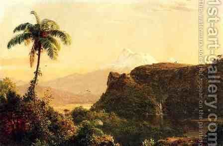 Tropical Landscape I by Frederic Edwin Church - Reproduction Oil Painting