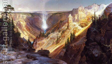 Grand Canyon of the Yellowstone by Thomas Moran - Reproduction Oil Painting