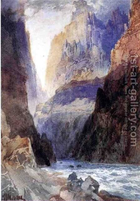 Zion Canyon by Thomas Moran - Reproduction Oil Painting