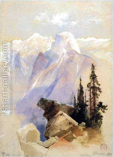 Half Dome, Yosemite by Thomas Moran - Reproduction Oil Painting