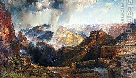 Chasm of the Colorado by Thomas Moran - Reproduction Oil Painting