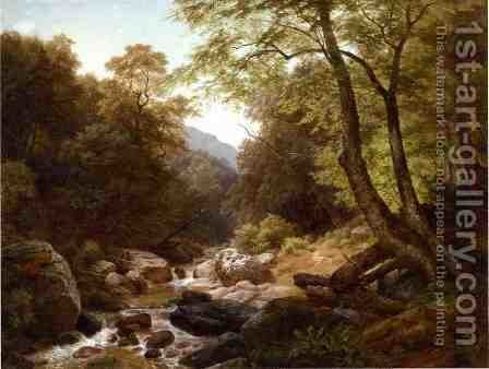 In the Catskills by Gottlieb Daniel Paul Weber - Reproduction Oil Painting