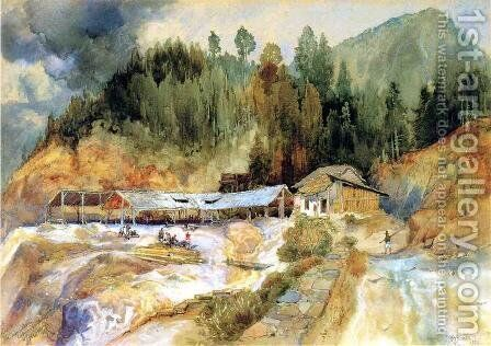 Trojes Mine by Thomas Moran - Reproduction Oil Painting