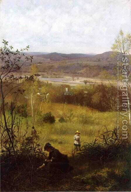 Deerfield Valley by James Wells Champney - Reproduction Oil Painting