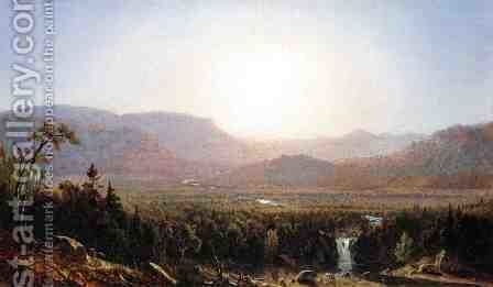 In the Catskills by Sanford Robinson Gifford - Reproduction Oil Painting