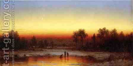A Winter Twilight by Sanford Robinson Gifford - Reproduction Oil Painting