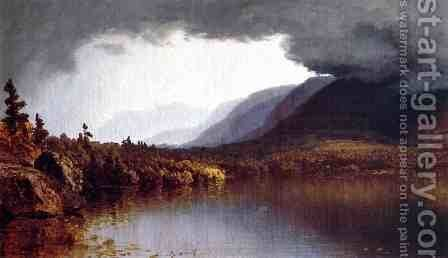 A Coming Storm on Lake George by Sanford Robinson Gifford - Reproduction Oil Painting