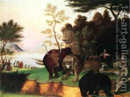 The Peaceble Kingdom by Edward Hicks - Reproduction Oil Painting