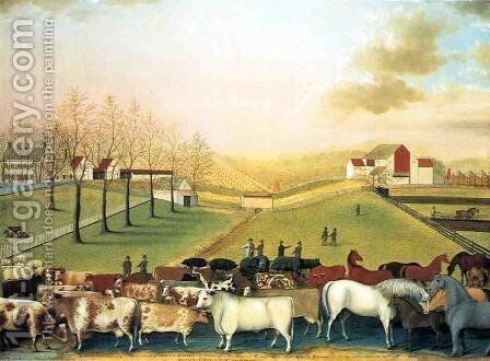 The Cornell Farm by Edward Hicks - Reproduction Oil Painting