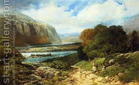 Near Harper's Ferry by Andrew Melrose - Reproduction Oil Painting