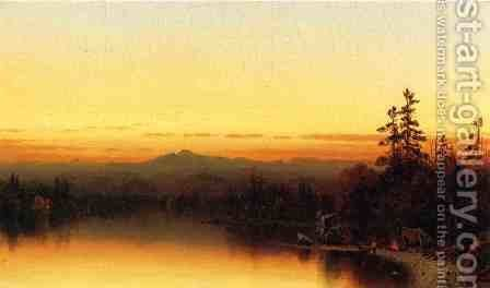 A Twilight in the Adirondacks I by Sanford Robinson Gifford - Reproduction Oil Painting