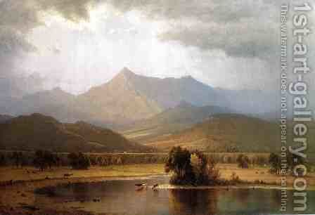 A Passing Storm in the Adirondacks by Sanford Robinson Gifford - Reproduction Oil Painting