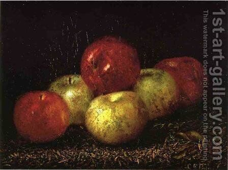 Still Life with Apples by Charles Ethan Porter - Reproduction Oil Painting