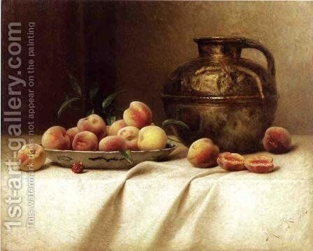 Peaches and Brass Jug by Milne Ramsey - Reproduction Oil Painting