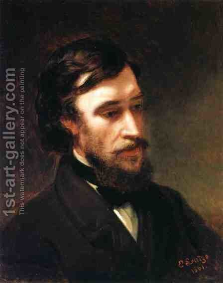Portrait of Sanford Robinson Gifford by Emanuel Gottlieb Leutze - Reproduction Oil Painting