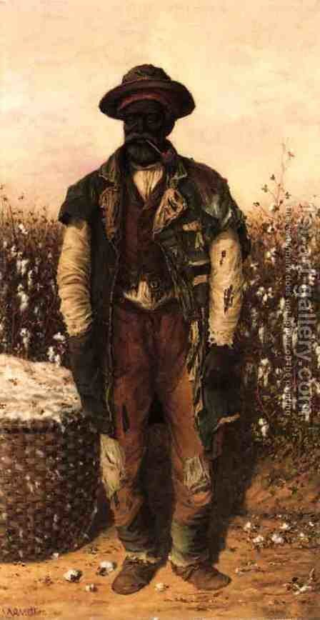 Cotton Picker by William Aiken Walker - Reproduction Oil Painting