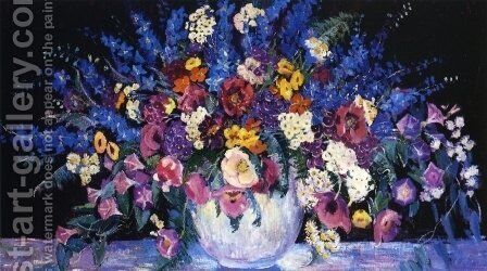 Still Life with Flowers by Dorothea M. Litzinger - Reproduction Oil Painting