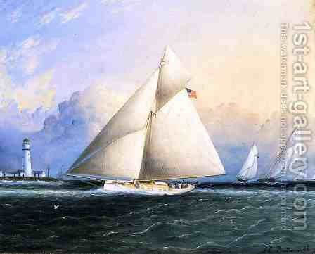 Yacht Race by James E. Buttersworth - Reproduction Oil Painting