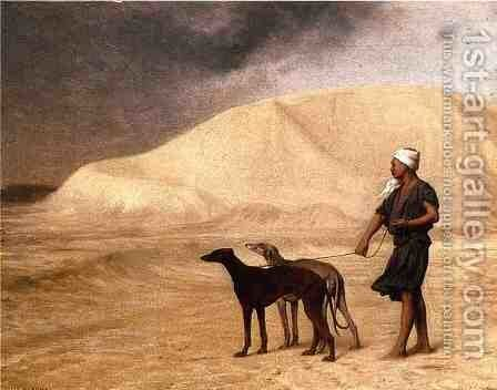 Team of Dogs in the Desert by Jean-Léon Gérôme - Reproduction Oil Painting