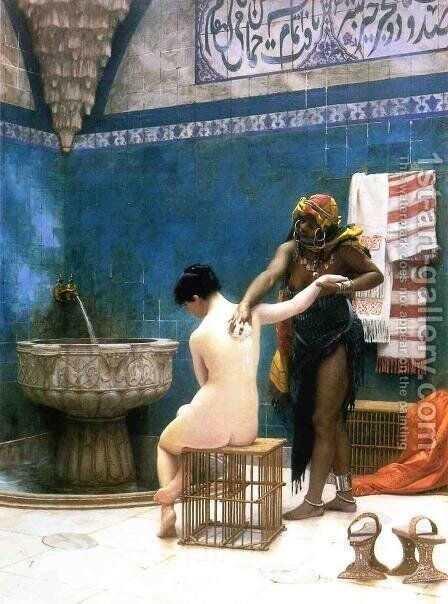 Moorish Bath by Jean-Léon Gérôme - Reproduction Oil Painting