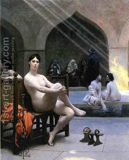The Women's Bath by Jean-Léon Gérôme - Reproduction Oil Painting