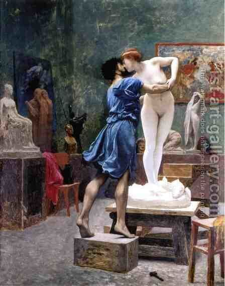 Pygmalion and Galatea (study) by Jean-Léon Gérôme - Reproduction Oil Painting