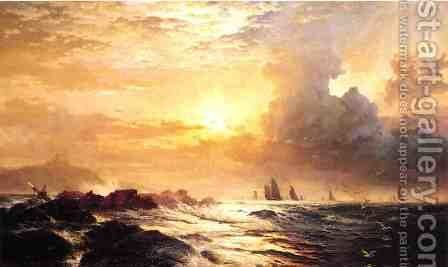Ships at Sea by Edward Moran - Reproduction Oil Painting