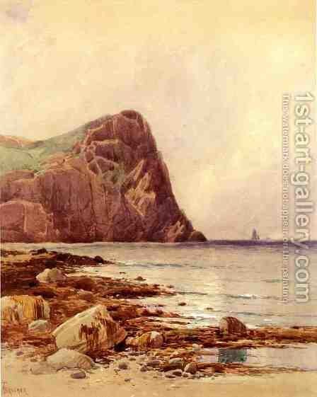 Rocky Coast by Alfred Thompson Bricher - Reproduction Oil Painting