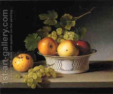 Fruit Still Life with Chinese Export Basket by James Peale - Reproduction Oil Painting