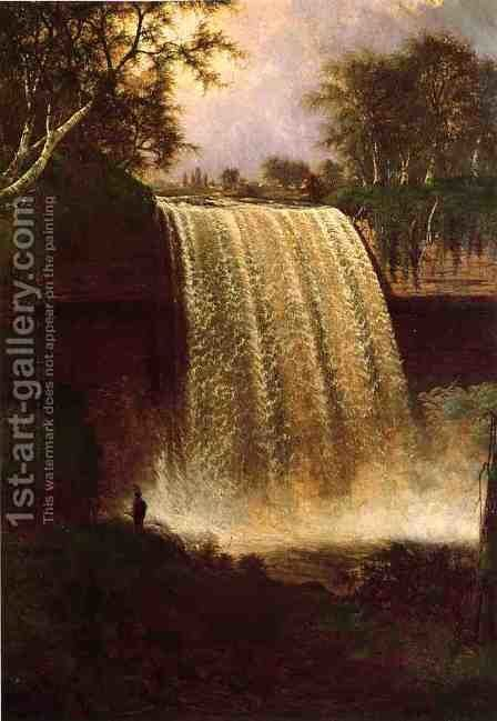 Minnehaha Falls, Minnesota by Jesse Talbot - Reproduction Oil Painting