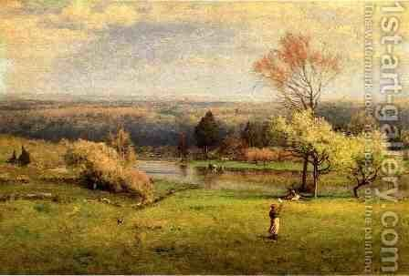 Pond at Milton on the Hudson I by George Inness - Reproduction Oil Painting