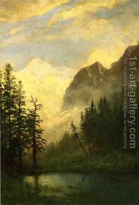 Mountain Landscape I by Albert Bierstadt - Reproduction Oil Painting
