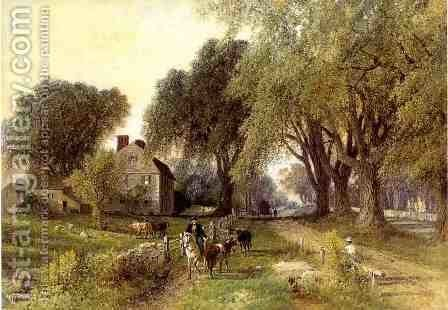 Country Life I by Albert (Fitch) Bellows - Reproduction Oil Painting
