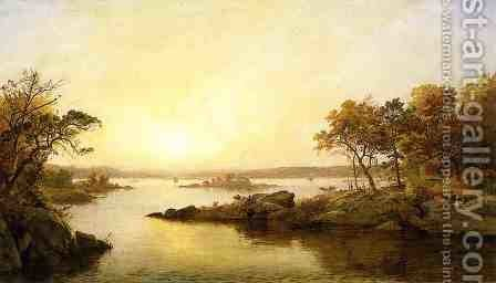 Afternoon at Greenwood Lake by Jasper Francis Cropsey - Reproduction Oil Painting