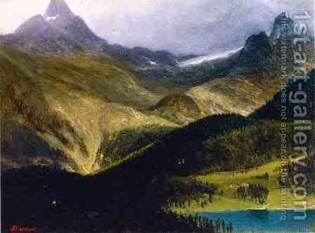 Mountain Landscape II by Albert Bierstadt - Reproduction Oil Painting