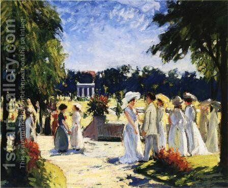 The Lawn Party by August Frederick Lundberg - Reproduction Oil Painting