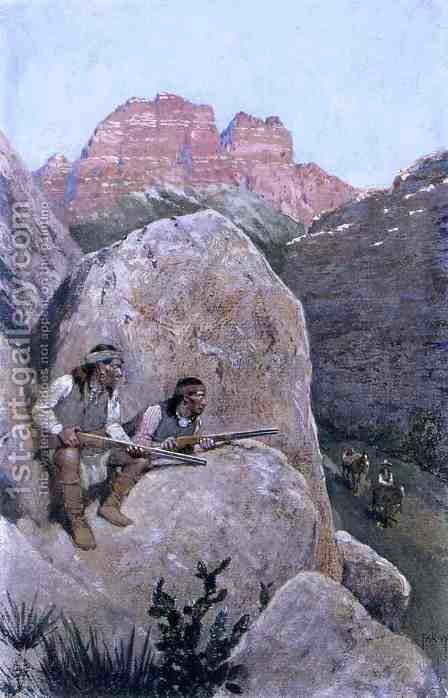Renegade Apaches by Henry Farny - Reproduction Oil Painting