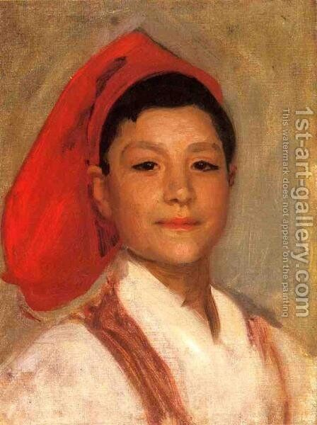 Head of a Neapolitan Boy by Sargent - Reproduction Oil Painting