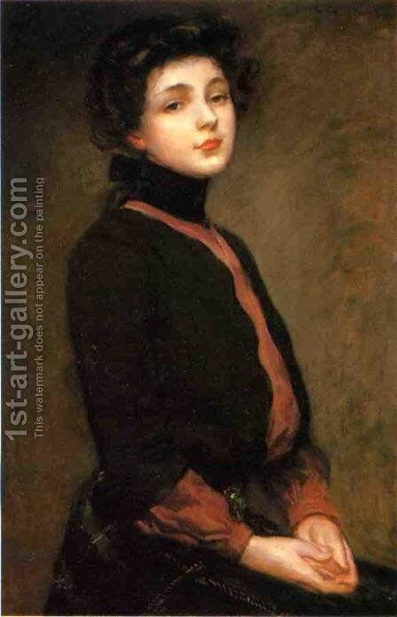 Portrait of Evelyn Nesbitt I by James Carroll Beckwith - Reproduction Oil Painting