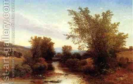 Landscape with Footbridge by Albert (Fitch) Bellows - Reproduction Oil Painting