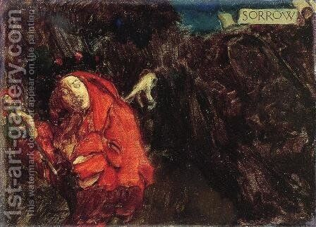 Sorrow by Howard Pyle - Reproduction Oil Painting
