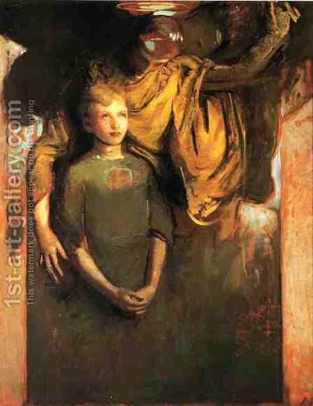 Boy and Angel by Abbott Handerson Thayer - Reproduction Oil Painting