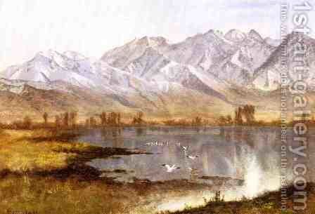 Wassatch Mountains, Utah by Albert Bierstadt - Reproduction Oil Painting