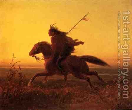 On the Warpath by Carl (Charles Ferdinand) Wimar - Reproduction Oil Painting