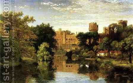 Warwick Castle, England by Jasper Francis Cropsey - Reproduction Oil Painting
