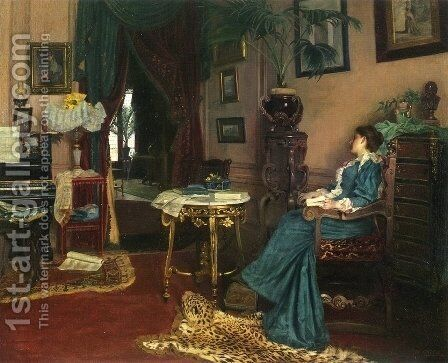 Woman Seated in an Interior by Maximilien Colin - Reproduction Oil Painting