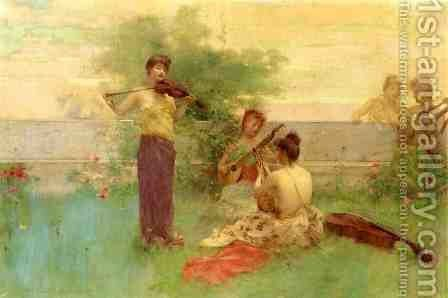 Arcadia by Henry Siddons Mowbray - Reproduction Oil Painting