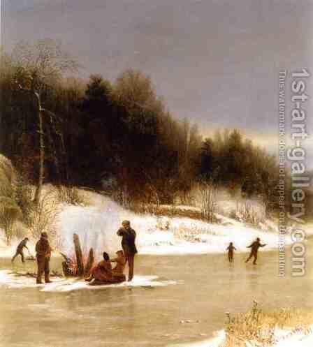 The Skating Party by Jervis McEntee - Reproduction Oil Painting