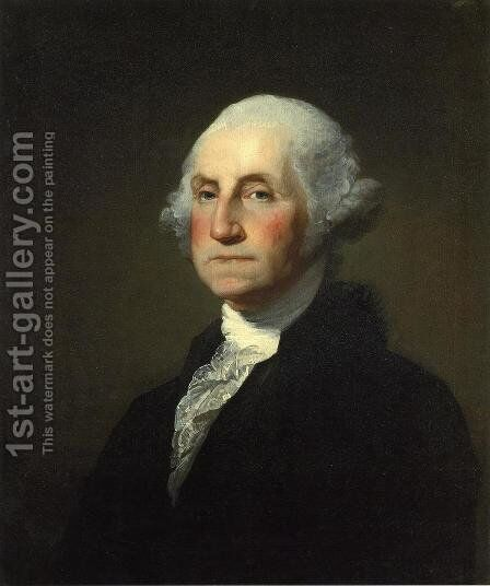 George Washington I by Gilbert Stuart - Reproduction Oil Painting