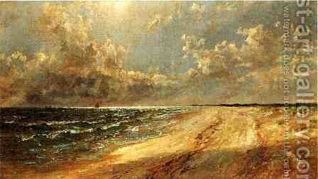 Seascape by Jasper Francis Cropsey - Reproduction Oil Painting